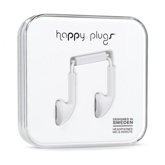 Happy Plugs, Earbud, White