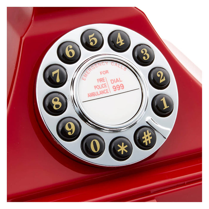 GPO Retro - Carrington Analog Desk Telephone - Red