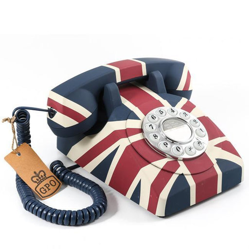 GPO, Vintage British Union Flag Rotary Push Button Telephone