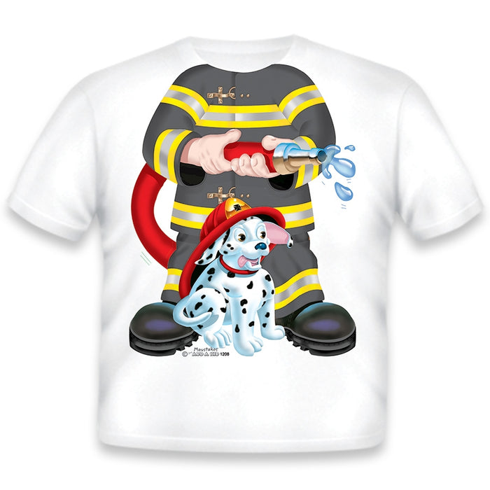 Just Add A Kid - T-Shirt Firefighter Dog Black 4T (2037387526201)