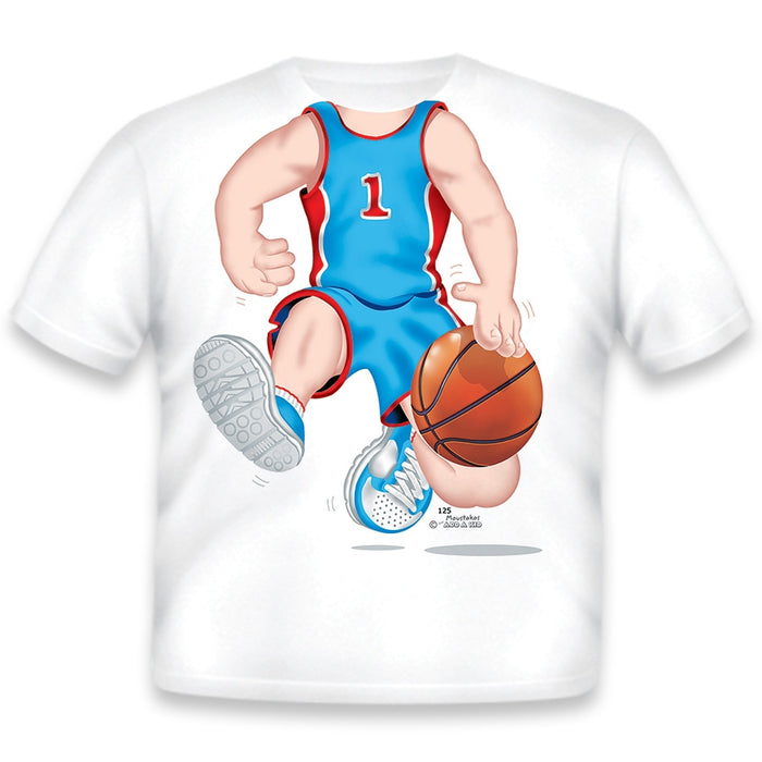 Just Add A Kid - T-Shirt Basketball Dark Blue 4T T-Shirt