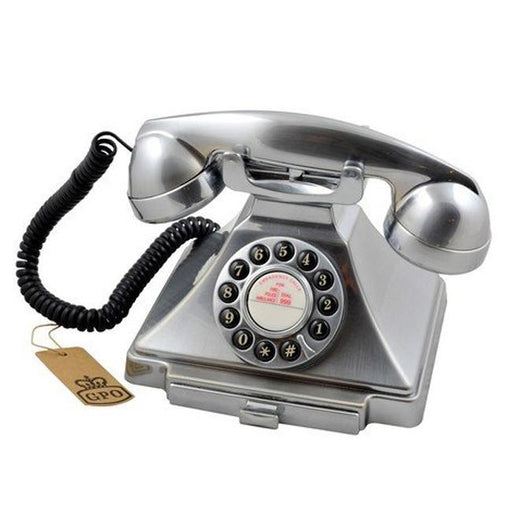 Gpo Carrington, Classic Retro Telephone, Chrome