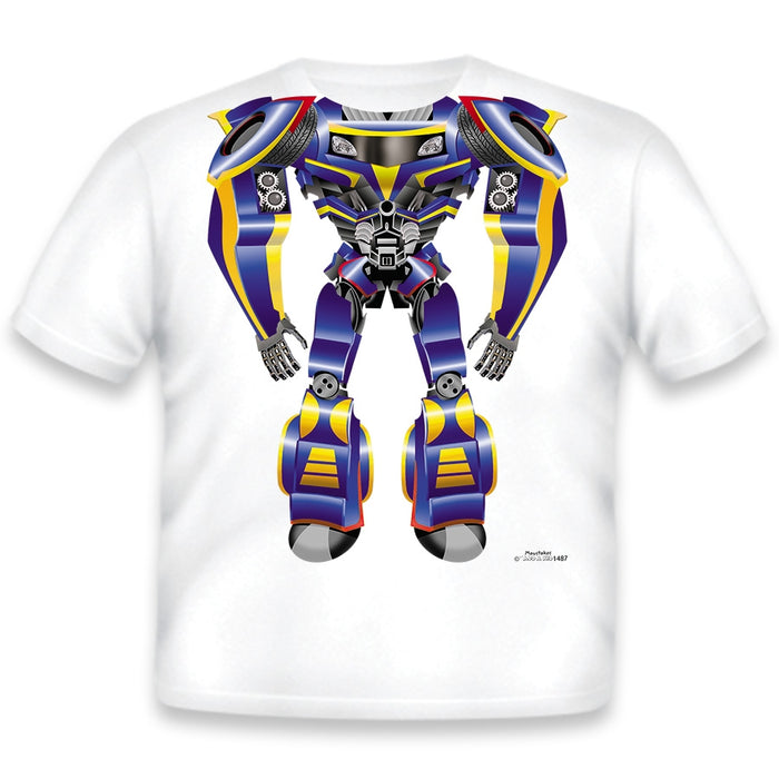 Just Add A Kid - T-Shirt Robot Blue - 4 Years
