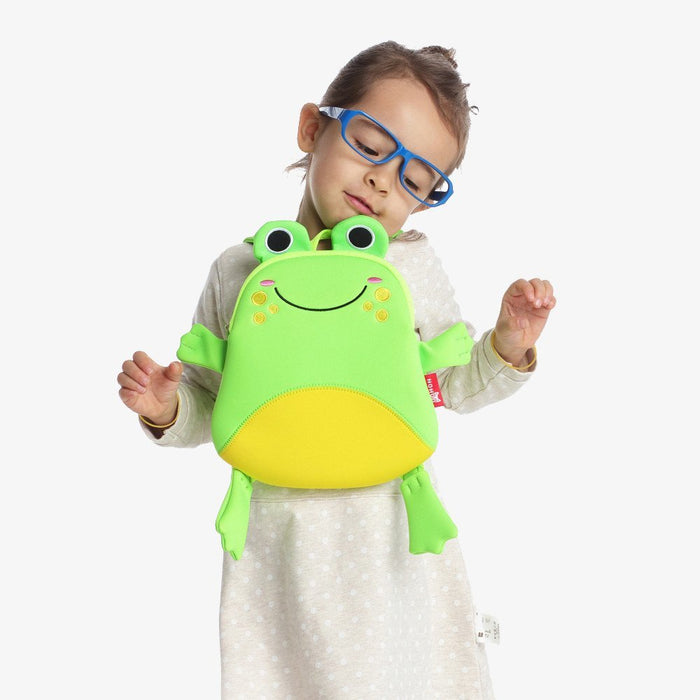 Nohoo - Mini Frog 3D Water Resistance Kids Backpack - 1 to 4 Years - Green