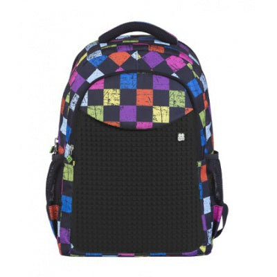 Pixie - Backpack PXB-06 multicolor Chequered - Black