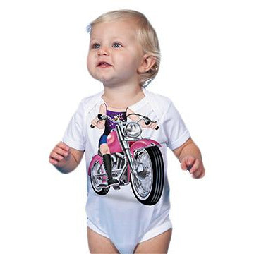 Just Add A Kid - Romper One-Piece Fat Girl Biker- up to 12 Months