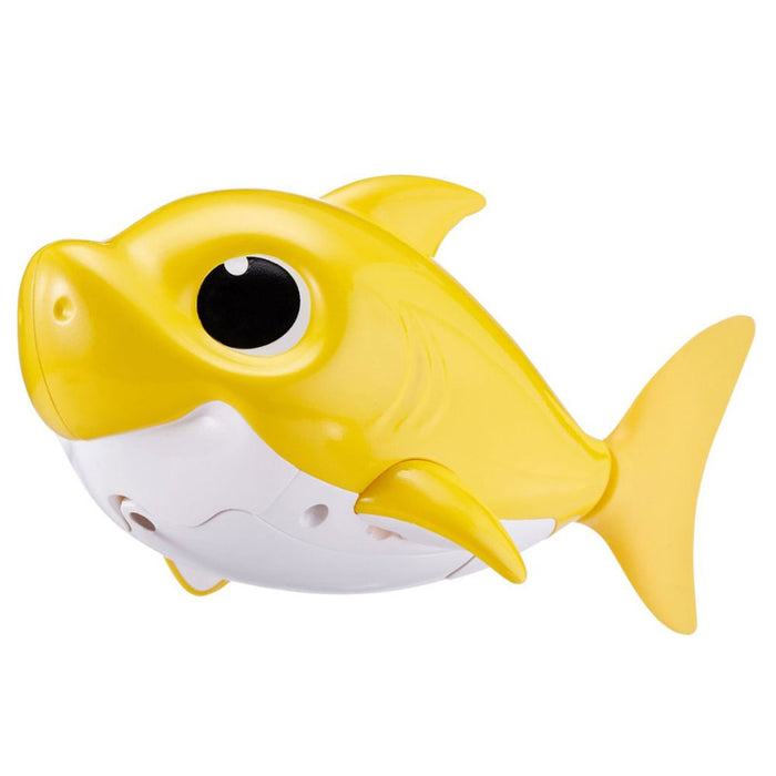 <strong>Zuru</strong> - Robo Alive Junior Baby Shark Battery-Powered Sing and Swim Bath Toy - Yellow