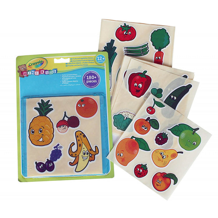 Crayola   - Mini Kids Giant Fruits and Vegetables Stickers (French)