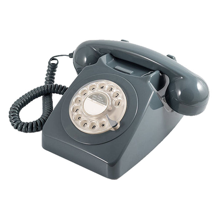 GPO 746 Rotary, Telephone With Built-In Modern Technology, Grey