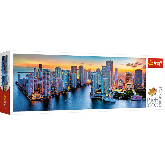 Trefl   - Panorama Miami after Dark Puzzle 1000pcs