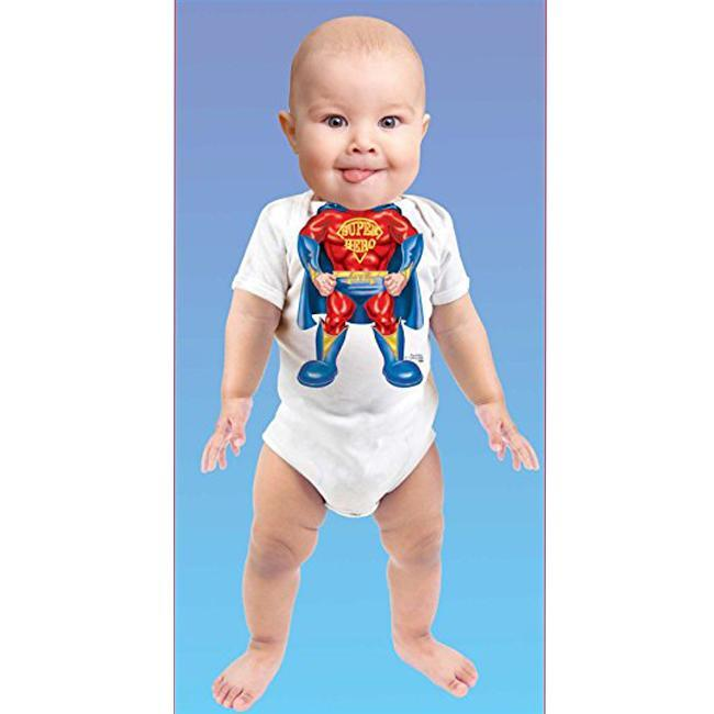 Just Add A Kid - Romper One-Piece Super Hero - up to 12 Months