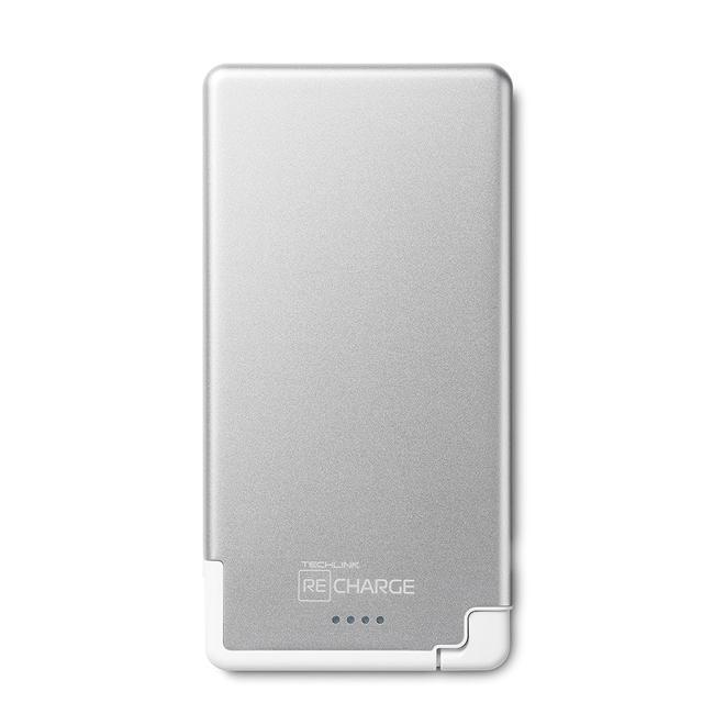 Recharge 3000 Ultrathin With Lightning-Silver /White
