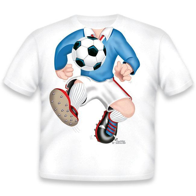 Just Add A Kid   - T-Shirt Soccer Blue 4 Years