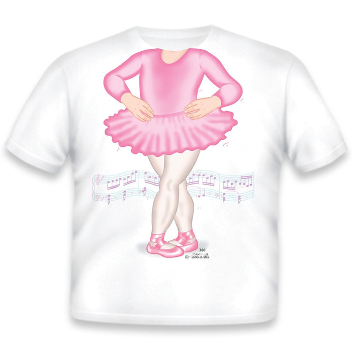Just Add A Kid - T-Shirt Ballerina Pink 4T