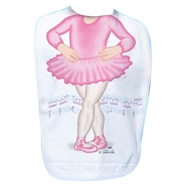 Just Add A Kid - Bib Ballerina Pink