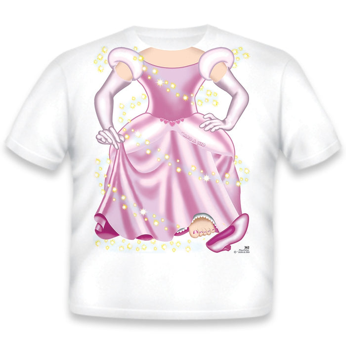 Just Add A Kid - Just Add A Color T-Shirt Princess Washable & Non-Toxic 5 Markers Included - 4 Years