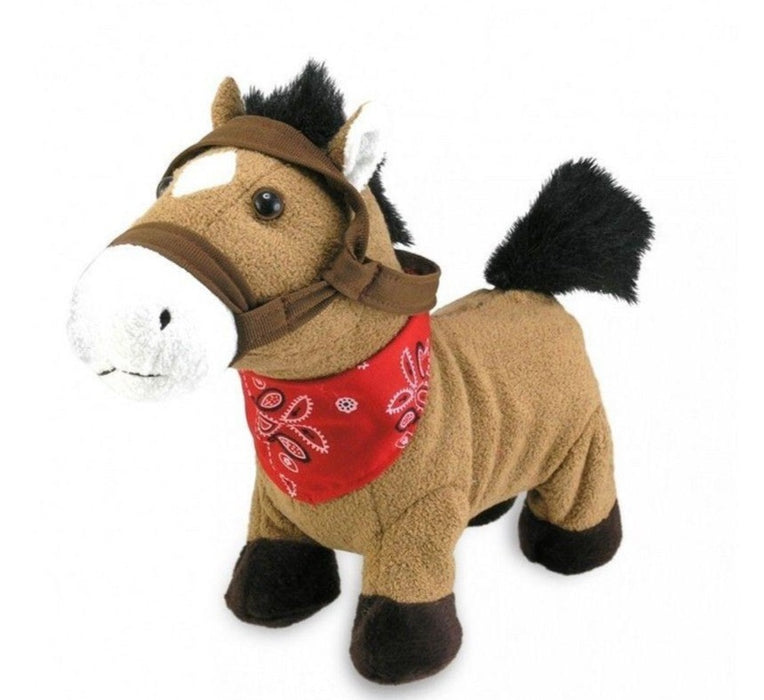 Cuddle Barn - Musical Plush Gallop Horse 10""