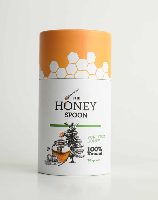 The Honey Spoon   - The Smartest Pine Honey Spoon - 30 Spoons/Box