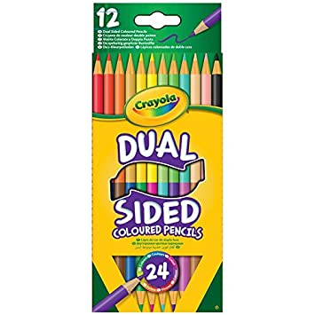 Crayola   - 12 Colored Pencils Dual Sided (French)