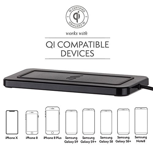 Case-Mate - Qi Certified Wireless Charger - Power PAD - Fast Wireless Charger with Stand - Black