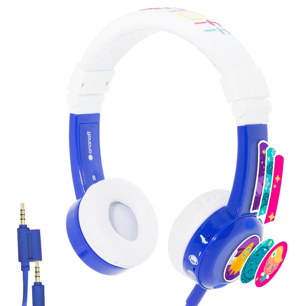 Buddy Phones Inflight On-Ear Wired Headphoness - Blue