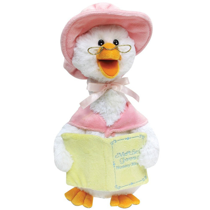 "Cuddle Barn - Musical Plush Mother Goose Reads 7 Rhymes 14"" - Pink"