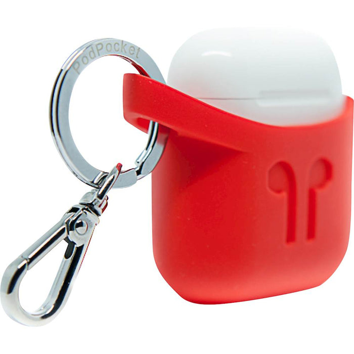 <strong>PodPocket</strong> - Silicone Case for Apple Airpods - Blazing Red