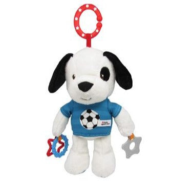 Kids Preferred   - Little Sport Star Soccer Puppy Teether, Ring, Crinkle, Sound, On-the-Go Clip