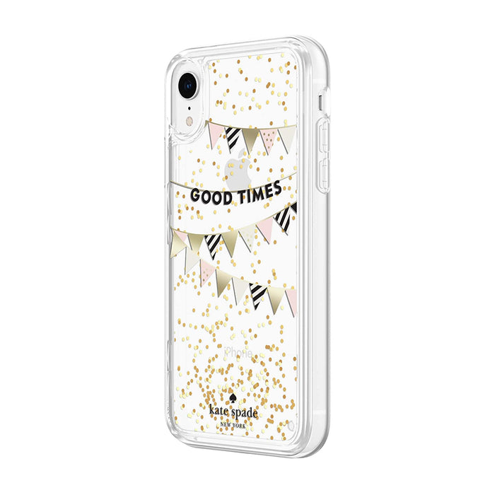 Kate Spade - iPhone XR Liquid Glitter Case Good Times - Gold