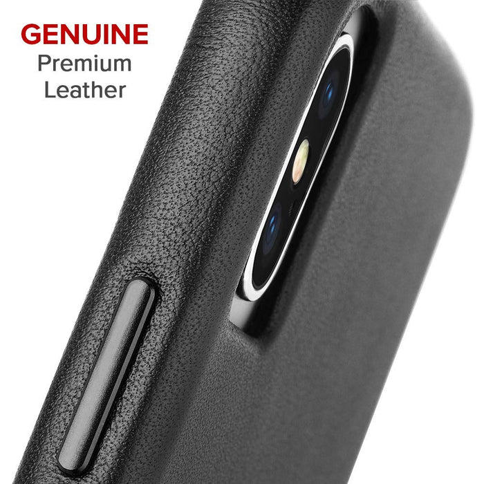 Case-Mate - iPhone X/XS Barely There Leather - Black