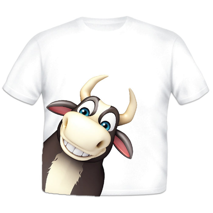 Just Add A Kid - Animal T-Shirt Bull - 3 Years