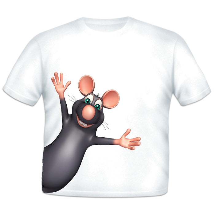 Just Add A Kid - Animal T-Shirt Rat - 3 Years