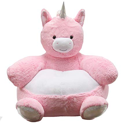 Kids Preferred  - Soft Plush Reading Chair for Toddlers - Pink Unicorn