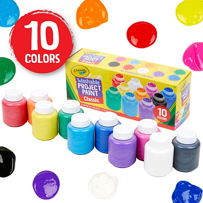 Crayola   - 10 Washable Paint Pots (French)
