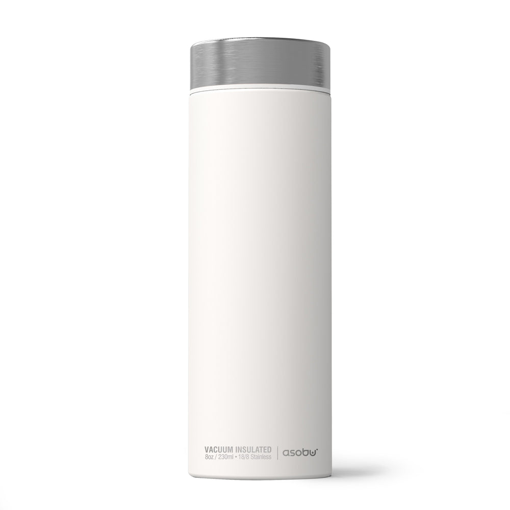 Asobu - La Baton Travel Bottle - White / Silver