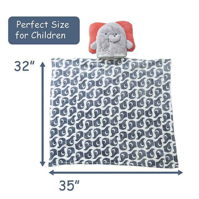 Kids Preferred - Stuffed Animal Pillow Blanket - Elephant