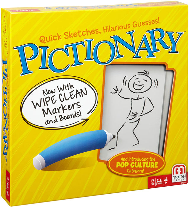 Mattel - Pictionary Board Game: Quick Sketches, Hilarious Guesses (English)