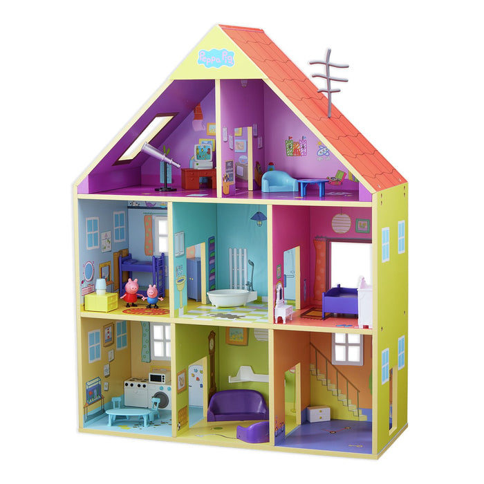 Peppa Pig   - Peppa's Wooden Playhouse Set