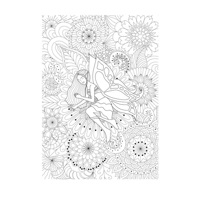 YUYA   - FLORAL BUTTERFLY Doodle 120gram - 150 x 90 cm