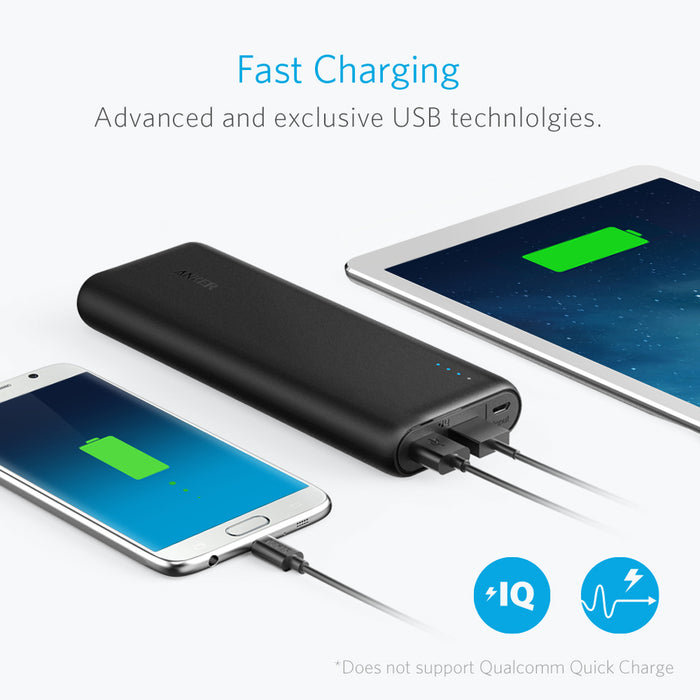 Anker - PowerCore+ 15600mAh Power Bank with 4.8A Output - Black