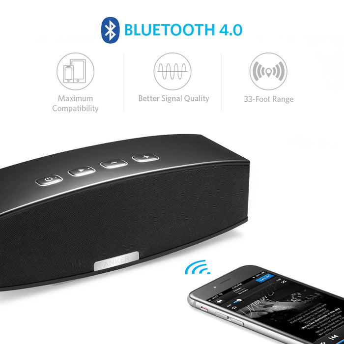 Anker - Premium Stereo Bluetooth Wireless Speaker - Black