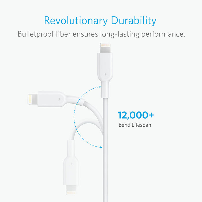 Anker - PowerLine II 3m Lightning Cable - White