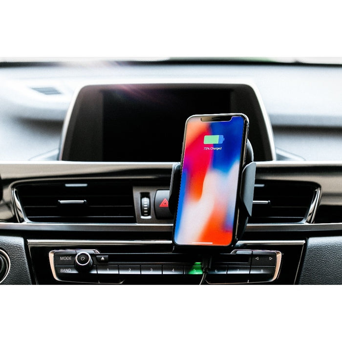 Adonit - Wireless Car Charger Mount, Auto Clamping 7.5W /10W Fast Charging Car Phone with Adapter