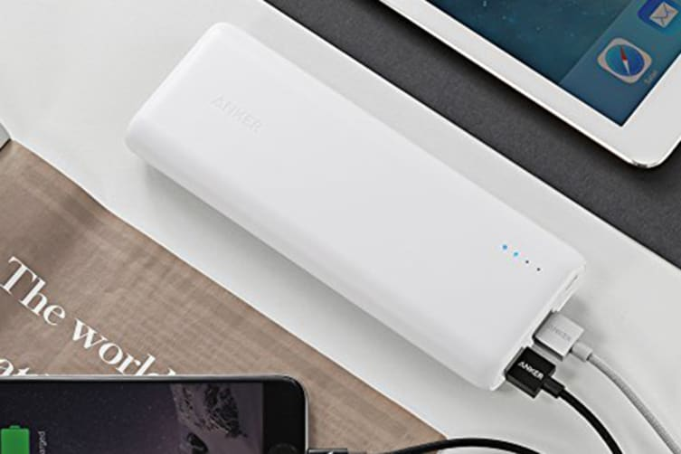 Anker - PowerCore+ 15600mAh Power Bank with 4.8A Output  - White