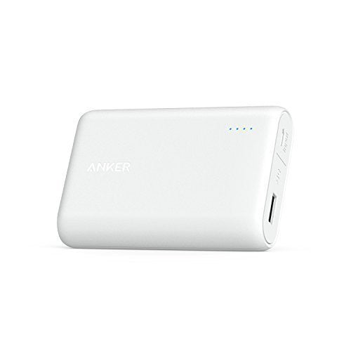 Anker - PowerCore 10000mAh Ultra-Compact Power Bank- White