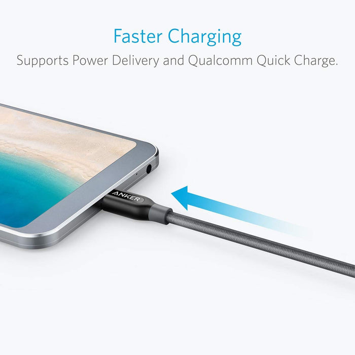 Anker - Powerline+ 1m USB-C to USB-C 2.0 - Grey