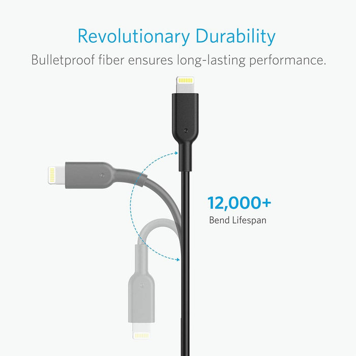 Anker - PowerLine II 2m Lightning Cable - Black