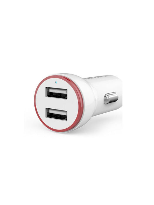 Anker - PowerDrive 24W 0.9m Dual USB Android Car Charger - White