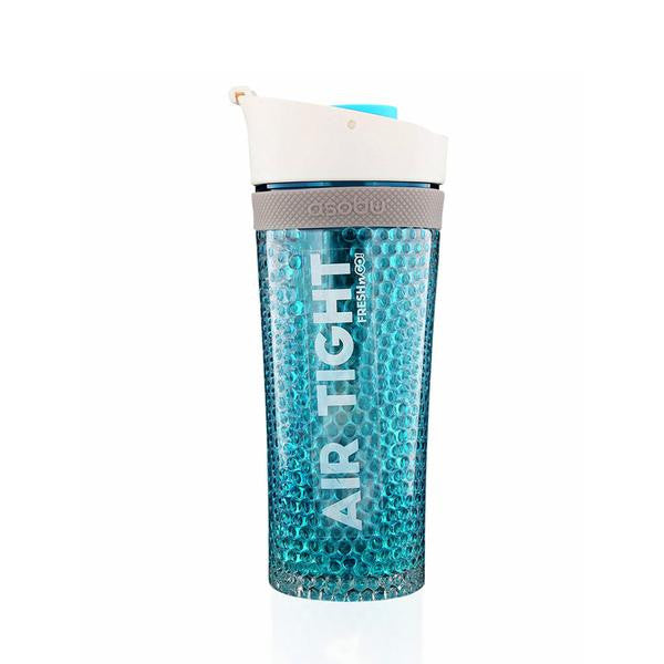 <strong>Asobu</strong> - Pump'N'Chill Air Tight Double Gel Walled Bottle  - BLUE