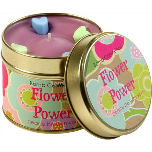 Bomb Cosmetics Patterned Tin Candle -Flower Power